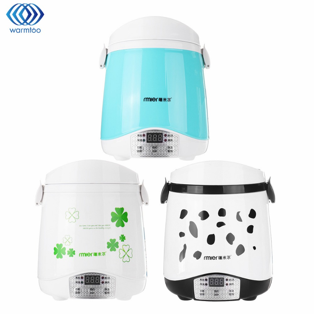 1.5L Rice Cooker 220V 250W Timing Mini Food Warmer Multifunctional Cook Rice Gruel&amp;Soup Stain Steel Liner Home Travel Student<br>
