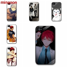 minason Kuroko no Basket Cover case for iphone 4 4s 5 5s 5c 6 6s 7 7 8 plus samsung galaxy s3 s4 S5 S6 Note 2 3 4 S1873(China)