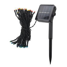 50 LED 2 Modes Solar String Lights Perfect Outdoor Decoration for Christmas Wedding Party Valentine's Day Stages Waterproof