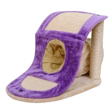 Cat Toy Scratching Post with Tunnel Wood Cat Toy Scratching Frame Cat Furniture Scratching Board for Fun High Quality