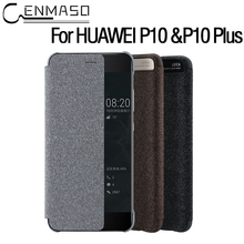 For Huawei Ascend P10 Plus P10plus Case Official From CENMASO Luxury P10 case Smart Windows Original Flip Leather Cases Cover
