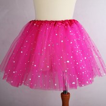 Kids Girl Star Glitter Dance Tutu Skirt Sequin With 3 Layers Tulle Tutu Toddler Girl Chiffon Pettiskrit