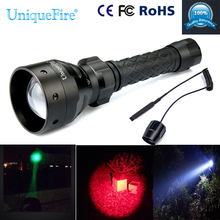 Uniquefire T50 Flashlight 1406-XR-E Zoom 3 Modes IP67 Waterproof Led Lamp Torch+Remote Pressure For Remote Control Flashlight