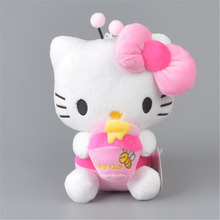 Honey Bee Hello Kitty Stuffed Plush Toy,  Baby Kids KT Doll Gift Free Shipping