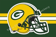 Green Bay Packers Flag National Football League 3ft X 5ft Polyester Banner Flying 150* 90cm Custom Flag Sport Helmet GB7(China)