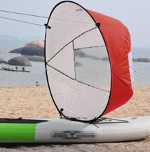 "9pcs New Style Durable 42"" Kayak boat Wind Sail Sup Paddle Board Sail with clear window"