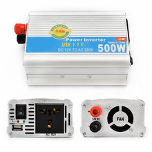 Marsnaska 500W Car Inverter 12v 220v 50Hz Auto Inverter 12 220 Cigarette Lighter Plug Power Converter Inverter(China)