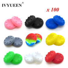 IVYUEEN 100 pcs Silicone Analog Thumb Stick Grip for Dualshock 4 PS4 Pro Slim for PS3 for Xbox 360 Controller Thumbsticks Caps
