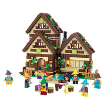 Winner 680pcs Snow White Series Building Blocks Dwarfs Chalet Brick Children's Education DIY Toys For Kids Gifts(China)