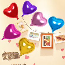 10Pcs/Pack Foil Heart Balloon For 5 Colors Children Toy Gift Helium Metallic Birthday New Year party Wedding Decoration Balloon