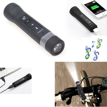 1PC Bluetooth Speakers Portable Flashlight Music Torch Bike Cycling Multifunction 4 in 1 Power Bank 2200mah MP3 Speaker Hands