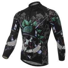 Buy XINTOWN Cycling Jersey Skull Soldier Long Sleeves Fleece Bike Jersey Maillot Ciclismo Winter Cycling Clothing Maillot Cycliste for $26.33 in AliExpress store