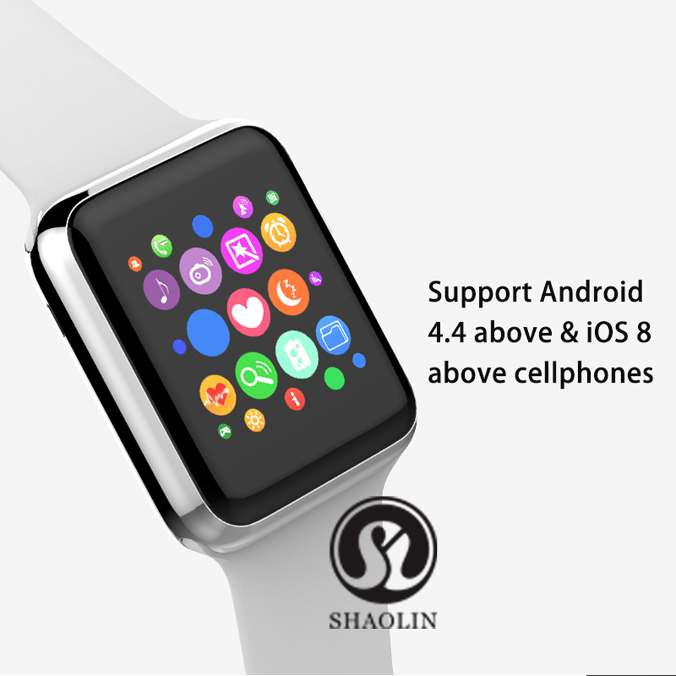 SHAOLIN Bluetooth Smart Watch Heart Rate Monitor Smartwatch Wearable Devices for iPhone IOS and Android Smartphones apple watch-6