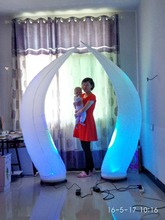 The best wedding stage decoration beautiful led inflatable cone  with RGB lights