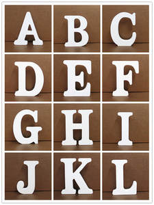 Home-Decor Art-Craft Wooden Letter Alphabet Diy Personalised Name-Design Heart English