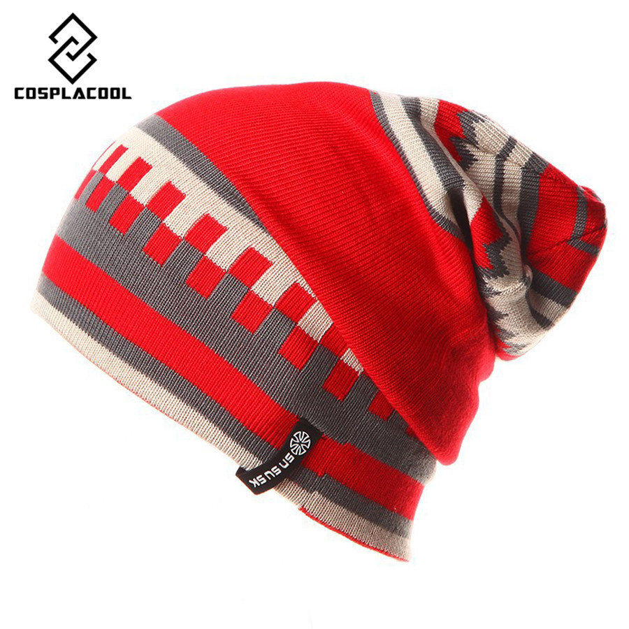 [COSPLACOOL] Two kinds of mens and womens hat wearing method knitted cap ski hat Winter gorros brand SNSUSK snowboard capsÎäåæäà è àêñåññóàðû<br><br><br>Aliexpress