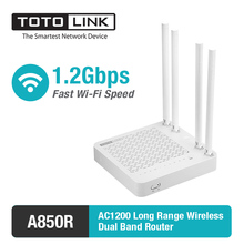 TOTOLINK A850R AC1200Mbps Dual Band High Power WiFi Router & WiFi Repeater & Access Point, with English Firmware
