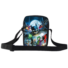 2015 Popular Printed Shoulder Mini Bag For Kids Hero Superman Batman Shoulder Bag For Boy Children Messenger Bag For School