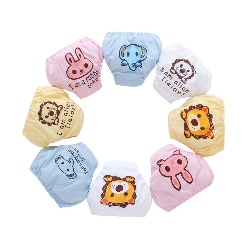 Hot! Training Pants Baby Shorts Underwear Baby Waterproof Cotton Potty Training pants infant urinate pants 2 piece/lot