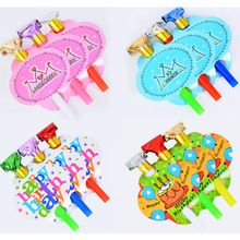 10 Pcs Children Creative Cheap Colorful Happy Birthday Party Accessories Whistles Instrument Kids Educational Toys Gifts