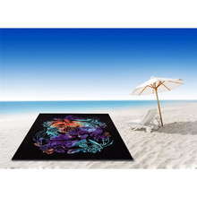 Skull Bone Printed Printing Beach Towel Yoga Mat Camping Serviette Blanket Swimming Bath Sunbath Absorbent Shawl Travel Towel