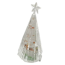 Practical-1pcs Transparent crystal colorful meteor tree a night light(China)