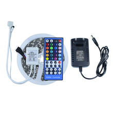 5050 RGBW RGBWW LED tape light  DC12V not waterproof+12V2A EU power adapter +IR remote controller led strip light holiday