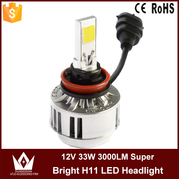 Guang Dian Car LED Light Headlight Auto vehicle COB LED Headlamp Bulb 2 smd A233 12V 33W 3000LM 3000K 6000K H11 LED Bright<br><br>Aliexpress
