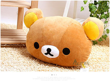 Kids Christmas Gift Rilakkuma plush pillow Toy lover Rilakkuma bear Large pillow plush Toy 50*36CM(China)