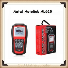100% Original Autel Autolink AL619 ABS/SRS+CAN OBDII Diagnostic Scan Tool Turn off Check Engine Light clear code reset monitor(China)