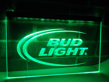 LE003- Bud Lite Beer Bar Pub Club Logo LED Neon Light Sign home decor crafts(China)