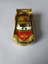 Pixar Cars 2 No.95 Metallic Finish Gold Chrome Diecast  Toy Car For Children 1:55 Loose Brand New In Stock &