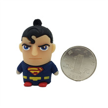 Cartoon Hero USB Flash Drive Super Man Pen Drive 4GB 8GB 16GB 32GB 64GB 128GB Pendrive Toy USB Stick Personalized Mini USB Key(China)