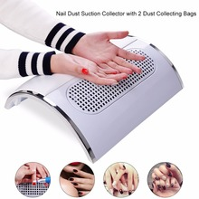 Powerful Nail Dust Suction Collector with 3 Fan Vacuum Cleaner Manicure Tools with 2 Dust Collecting Bags