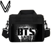 VEEVANV  Brand 2017 Bulletproof Boy Scouts 3D PU Prints Cooler Insulated Lunch Bags BTS Lunch Bags for Women PU Picnic Lunch Box