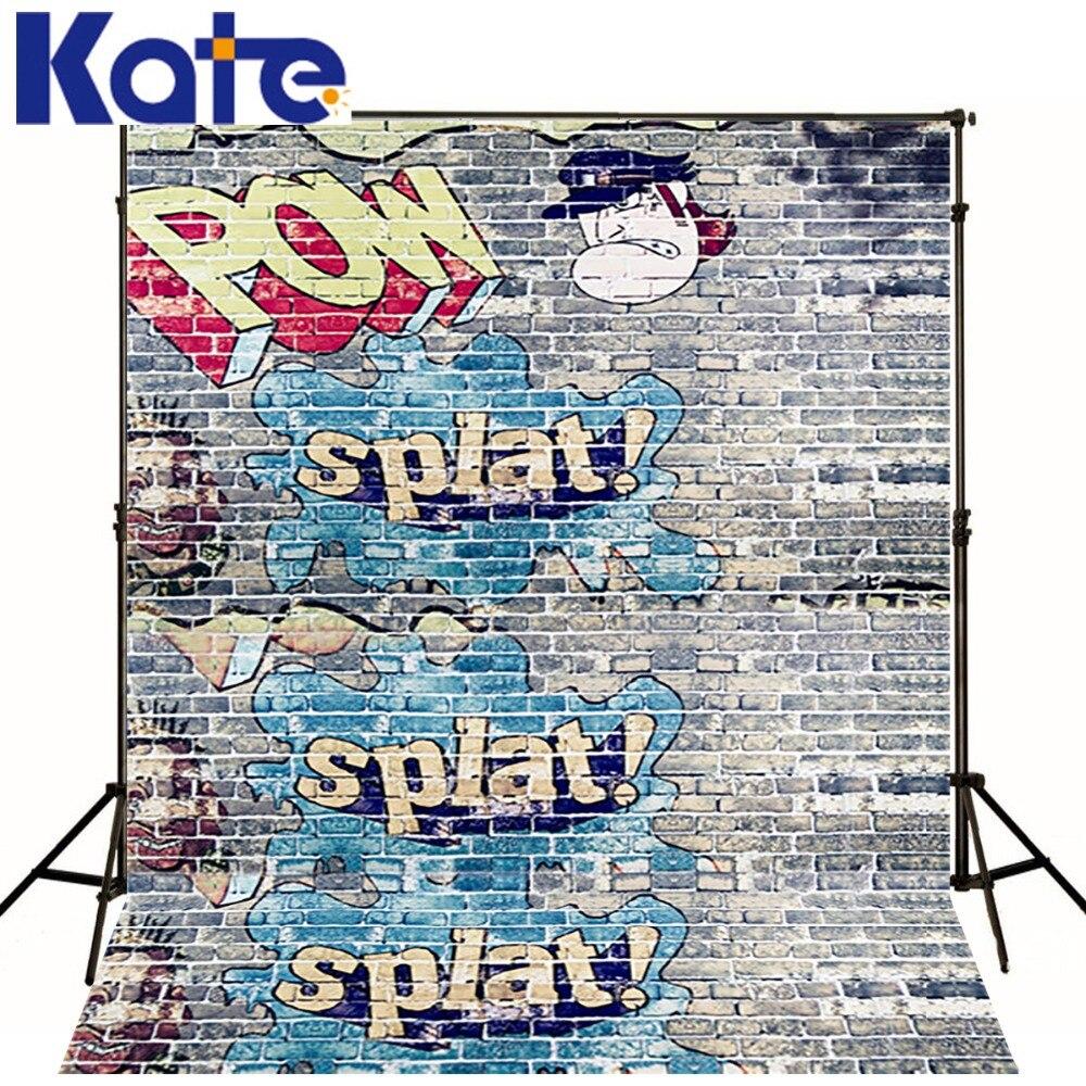 Kate  Digital Printing Photo Studio Backdrop Retro Brick Wall Graffiti Wall For Children Photography Backdrop N10468<br>
