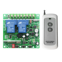 DC12V  24V  48V  2 channel  RF Wireless Remote Control Switch System 1 receiver  & 1  transmitter  Household appliances/lamp