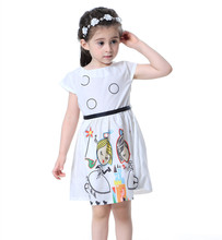 Girls Dress Baby Girls Summer Dress Kids Clothes Sashes Robe Fille Character Princess Dress For Party Wedding Children Clothing(China)