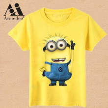 Hot New 2017 cartoon t shirts anime figure popular Fashion clothes, costume children's clothing children T- shirts Armedeo