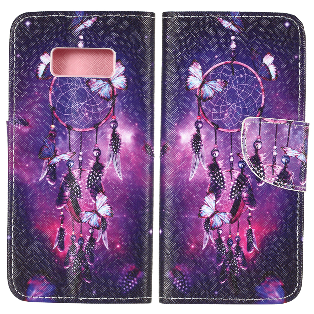 Pu leather case for samsung galaxy a7 2016 a710 peacock feather - 50pcs Lot For Samsung Galaxy S8 S8 Plus Dream Catcher Dandelion Flower Leather Case For
