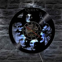 1Piece Creative Queen Bank Wall Decorative Art Wall Light With Color Change Handmade Led Time Clock Unique Gift Idea For Fans