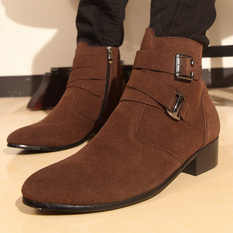 Men Snow Boots 2016 Winter Cotton Shoes for Men Super Warm Cotton Boots High Quality Suede Leather Men Boots for Men Shoes 2A