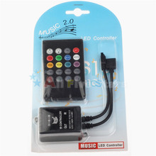 24 Key Music LED Controller Common Anode 72W 12V RGB LED Strip Light Controller FREE SHIPPING