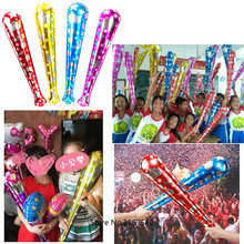 High Quality 78*15cm Star Printed Colored Sticks Foil Balloons Baseball shaped Balloon Party Decoration Kids Happy New Year Toys
