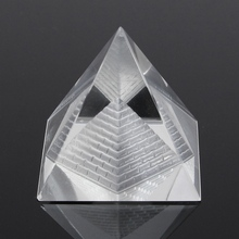 Fashion Egypt Egyptian Natural Crystal Clear Quartz Pyramid Home Desk Decor Gift Living Room Decoration Crystal Ornament Craft