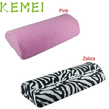 Drop shipping 1 PC Soft Nail Art Hand Holder Cushion Pillow Nail Arm Rest Manicure Tools Pink Zebra feb17