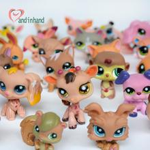 Figurine Anime Littlest Kids Toy 10PCS/Lot Pet Cat Dog Small Animals Toys&Hobbies Shop Toys For Children Girl New Year Gift