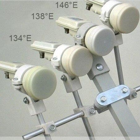KU LNB Bracket Holder Holds 4 KU Band LNBFs on a Satellite Dish Antenna