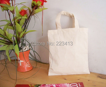 Free Shipping W20xH22cm Blank Canvas Cotton Tote Bag Shopping Bag Promotion Advertising Bag