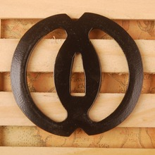 New Style Simple Iron Tsuba Hand Guard for Japanese Sword Samurai Katana or Wakizashi Nice Sword Fitting Metal Craft HT012